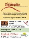 Gurkerwirt Fr13.3./24.4./8.4. Tanztreffen um 21h_Genottehöhe Restaurant Vill_Frühlingsball Spittal 18.4._Pirkdorfersee Fr.17.7.
