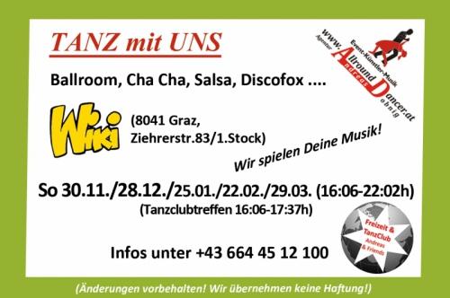 Wiki Termine Sonntag bis 29.3. ab 16:06h mit AllroundDancer Taxitänzer kann man extra buchen 06644512100 Wir spielen Deine Musi